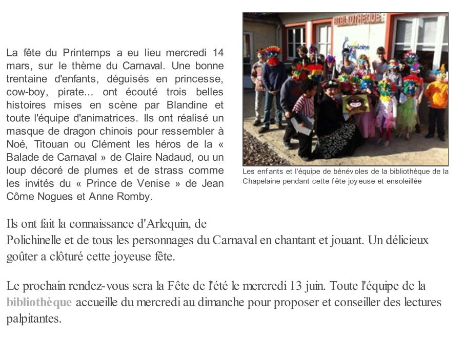 Article Ouest-France Carnaval